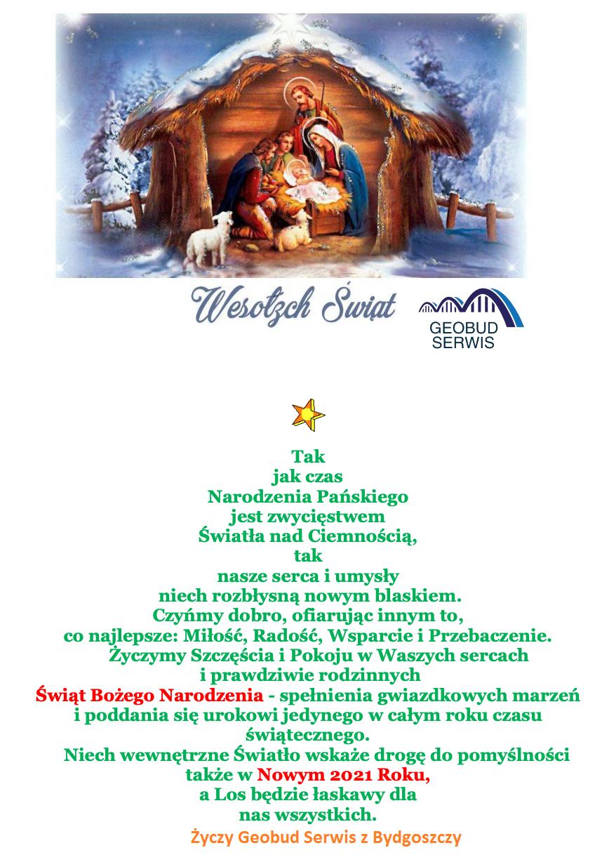 Read more about the article Wesołych Świąt Bożego Narodzenia oraz Szczęśliwego Nowego Roku 2021